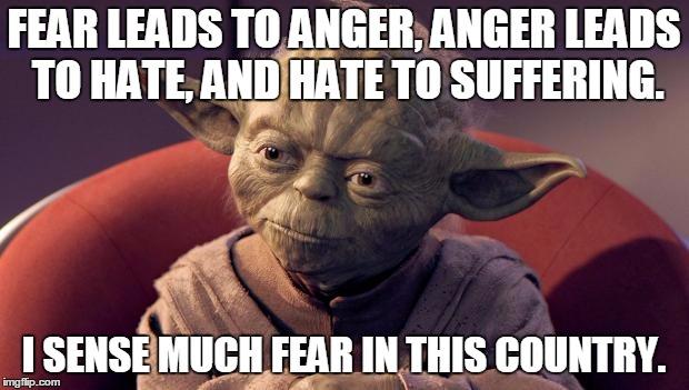 s0o39 yoda wisdom imgflip,Fear Leads To Anger Meme
