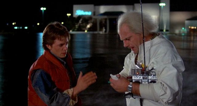 Image result for built a time machine out of a delorean