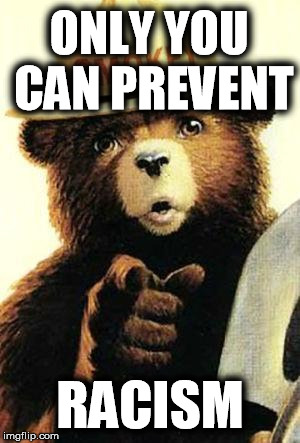 ONLY YOU CAN PREVENT RACISM | made w/ Imgflip meme maker