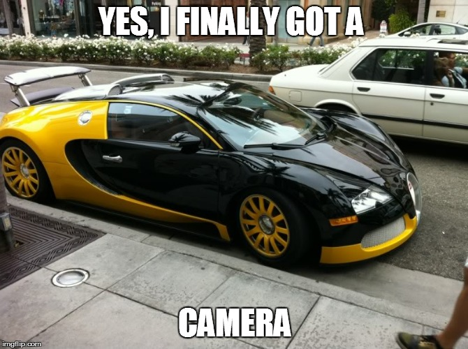 Yes, I Finally Got A Camera | YES, I FINALLY GOT A CAMERA | image tagged in dumb johnny | made w/ Imgflip meme maker
