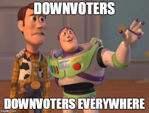 X, X Everywhere Meme | DOWNVOTERS DOWNVOTERS EVERYWHERE | image tagged in memes,x, x everywhere,x x everywhere | made w/ Imgflip meme maker