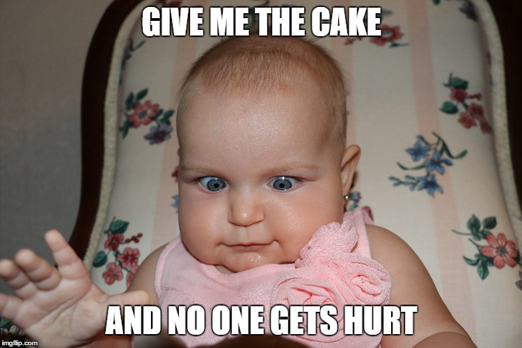 Funny Face Meme Maker : Image tagged in cake baby big eyes imgflip