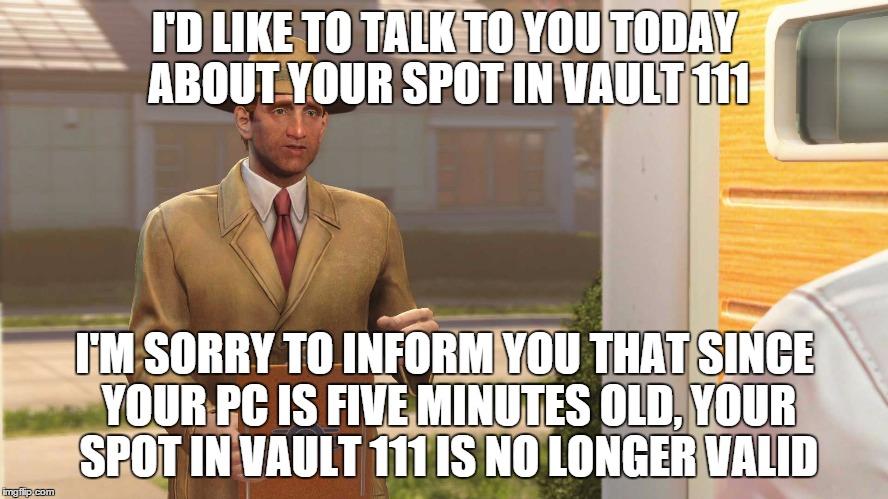 sj7zm fallout 4 vault meme generator imgflip