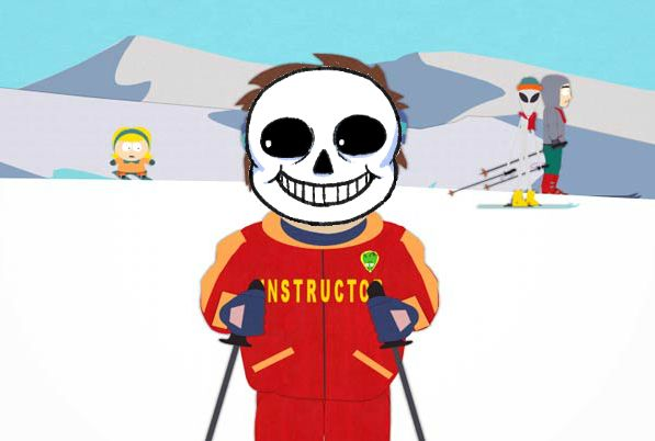 Undertale Sans/South Park Ski Instructor - Bad Time Meme