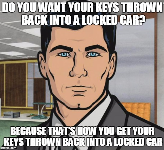 when a locked out customer scoffs at the price and refuses to pay