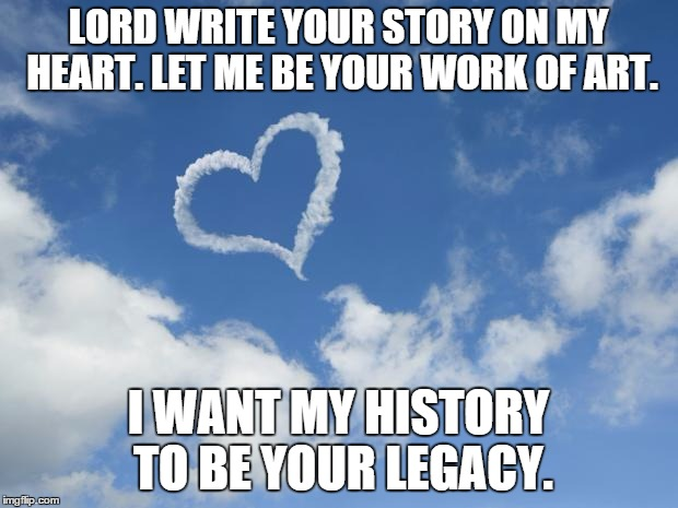 write your story in my heart
