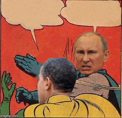 High Quality putin-obama slap Blank Meme Template