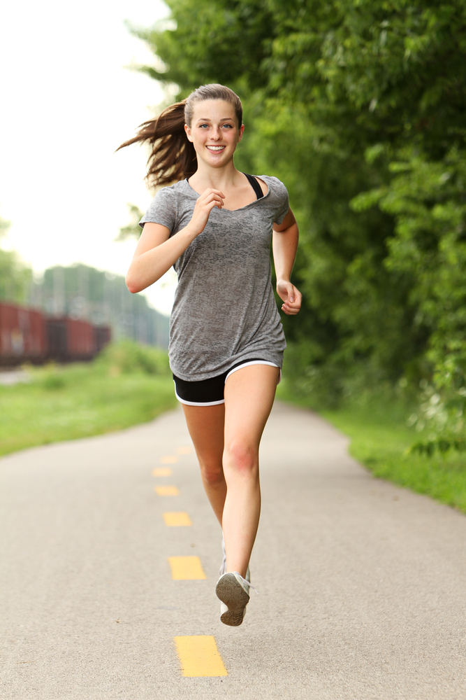 Running Girl Blank Template