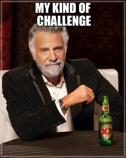 The Most Interesting Man In The World Meme | MY KIND OF CHALLENGE | image tagged in memes,the most interesting man in the world | made w/ Imgflip meme maker