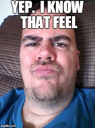 Scowl | YEP.  I KNOW THAT FEEL | image tagged in scowl | made w/ Imgflip meme maker