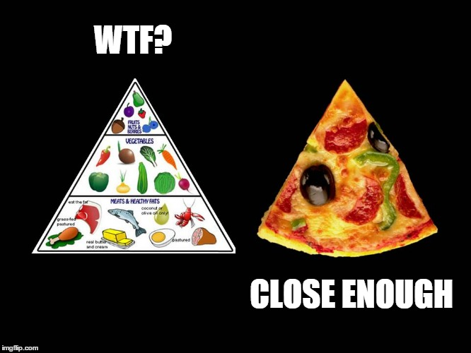 How to eat better | WTF? CLOSE ENOUGH | image tagged in food pyramid,pizza,food,nutrition,diet,dieting | made w/ Imgflip meme maker