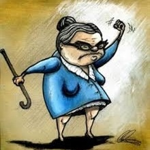 Angry little old lady cartoon Meme Template