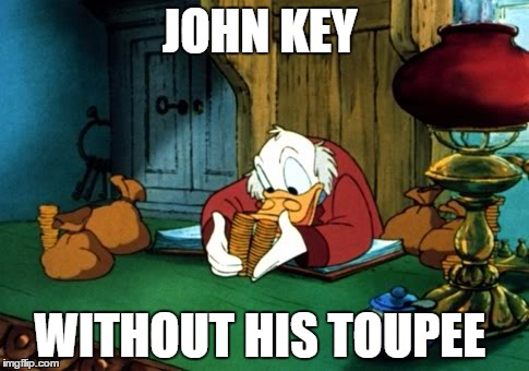 Scrooge McDuck 2 | JOHN KEY WITHOUT HIS TOUPEE | image tagged in memes,scrooge mcduck 2 | made w/ Imgflip meme maker