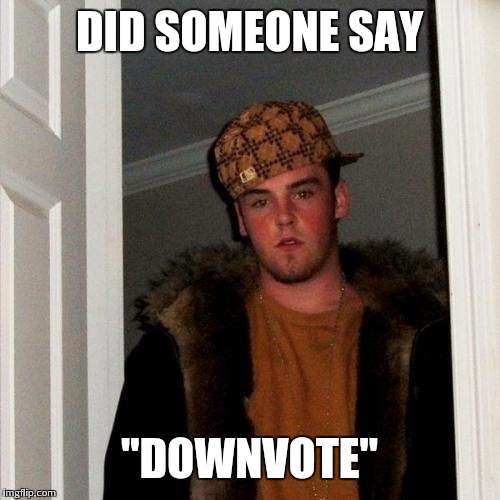 "Scumbag Steve Meme | DID SOMEONE SAY ""DOWNVOTE"" 