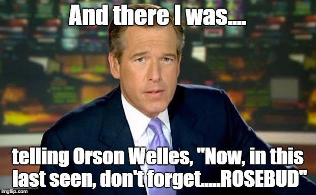 """ROSEBUD.....Now You Know"" by Brian Williams 