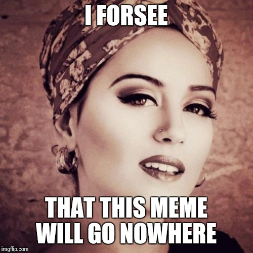 I Forsee | I FORSEE THAT THIS MEME WILL GO NOWHERE | image tagged in memes,i forsee | made w/ Imgflip meme maker