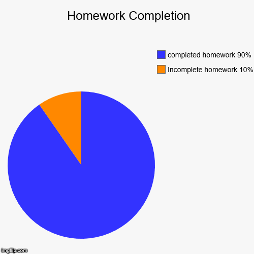 homework completion chart