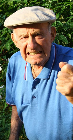 Image result for old man shaking fist gif