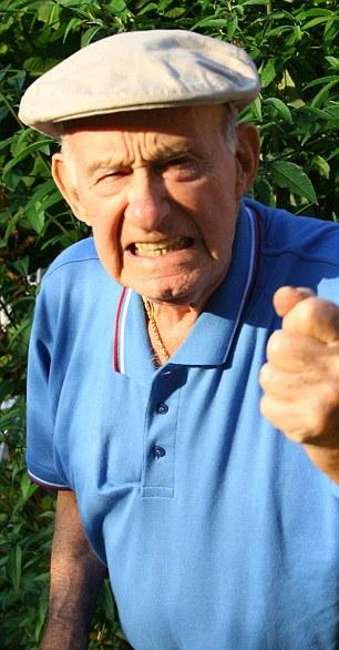 Old Man Yay Meme / An elderly man gray (grey) hair, and visible wrinkles.