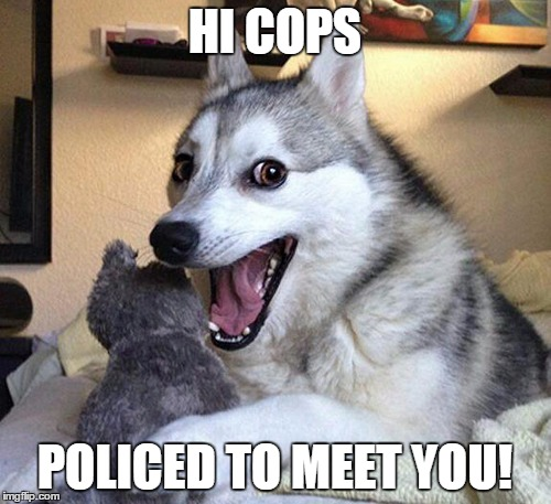 HI COPS POLICED TO MEET YOU! | made w/ Imgflip meme maker