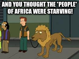 AND YOU THOUGHT THE *PEOPLE* OF AFRICA WERE STARVING! | made w/ Imgflip meme maker