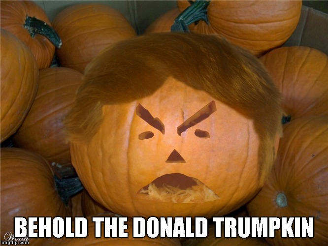 Donald Trumpkin | BEHOLD THE DONALD TRUMPKIN | image tagged in donald trumpkin | made w/ Imgflip meme maker