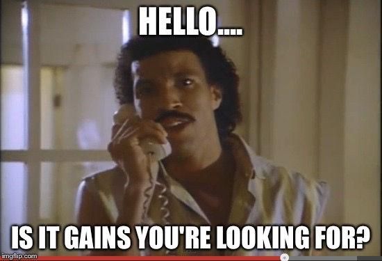 Lionel Richie Called He Wants To Know If You Found Your Gains