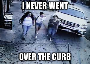 I NEVER WENT OVER THE CURB | made w/ Imgflip meme maker