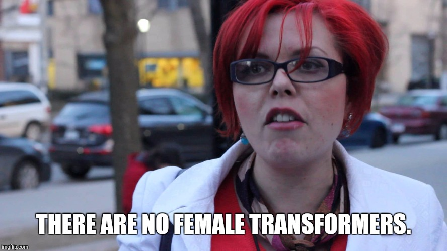 THERE ARE NO FEMALE TRANSFORMERS. | made w/ Imgflip meme maker