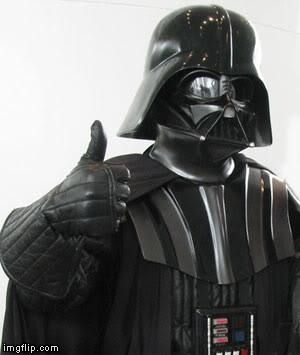 Darth Vader Thumbs Up | . | image tagged in darth vader thumbs up | made w/ Imgflip meme maker