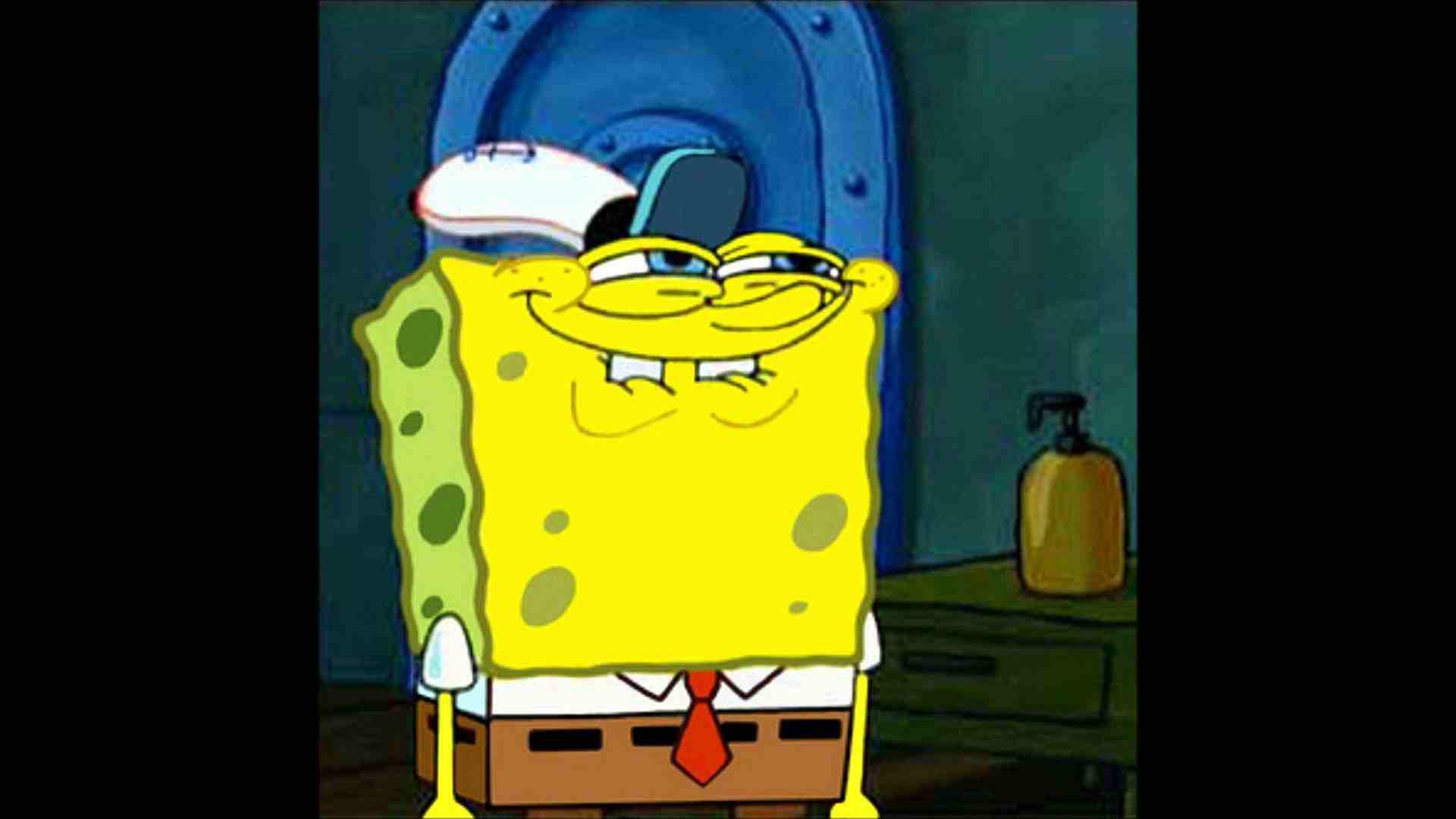 spongebob grin 2 blank template imgflip