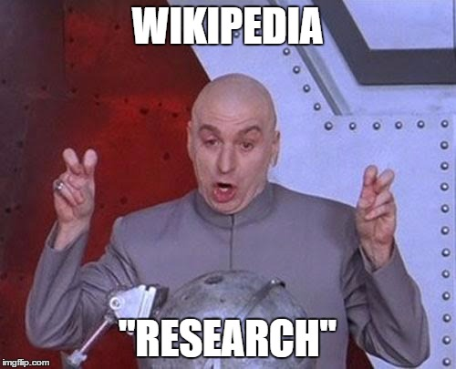 "Dr Evil Laser Meme | WIKIPEDIA ""RESEARCH"" 