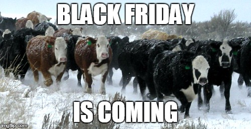 Stampede | BLACK FRIDAY IS COMING | image tagged in stampede,black friday | made w/ Imgflip meme maker