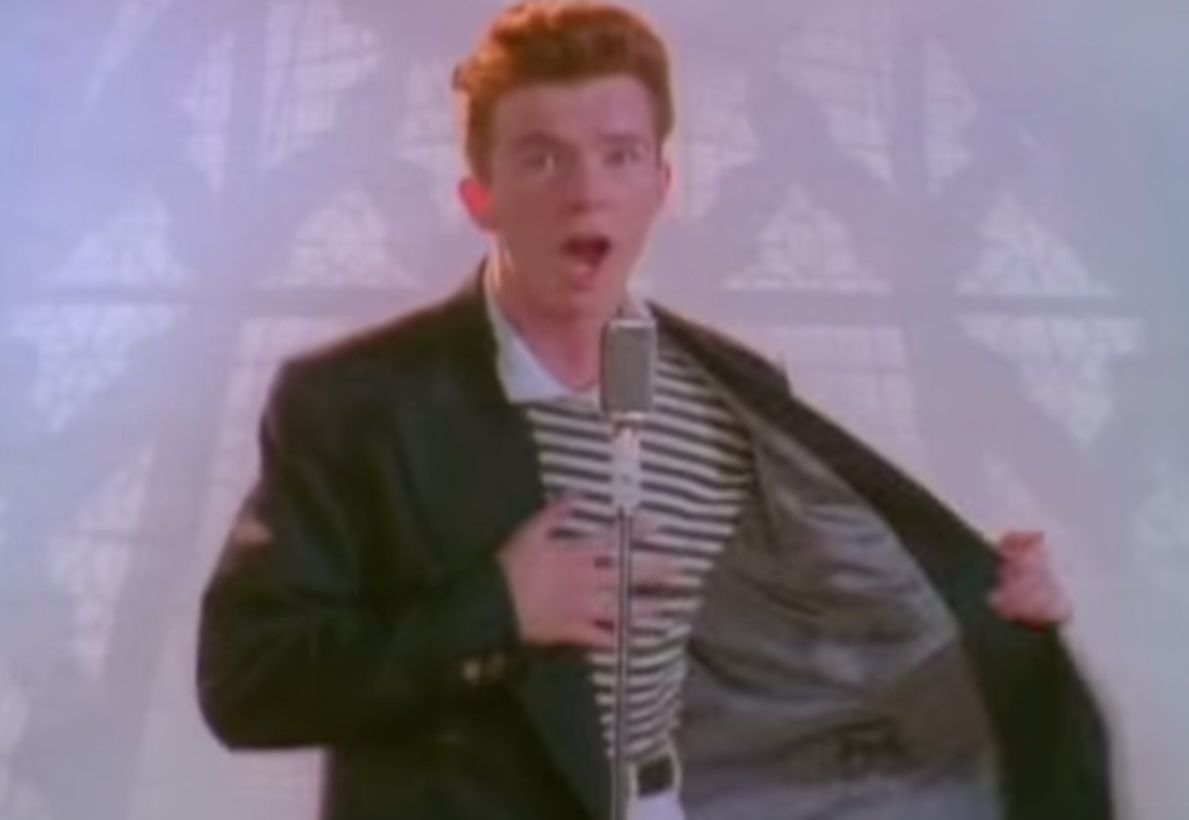 rick astley never gonna give you up video youtube - HD1189×820