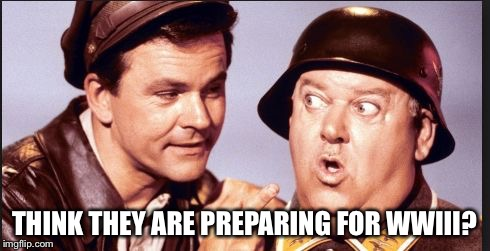 hogan | THINK THEY ARE PREPARING FOR WWIII? | image tagged in hogan | made w/ Imgflip meme maker