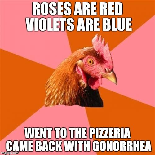 poem - Imgflip Anti Joke Chicken Meme