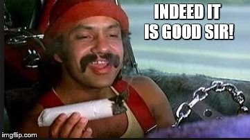 mega | INDEED IT IS GOOD SIR! | image tagged in mega | made w/ Imgflip meme maker