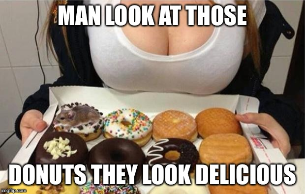 Oh Wow! Doughnuts! | MAN LOOK AT THOSE DONUTS THEY LOOK DELICIOUS | image tagged in oh wow doughnuts | made w/ Imgflip meme maker