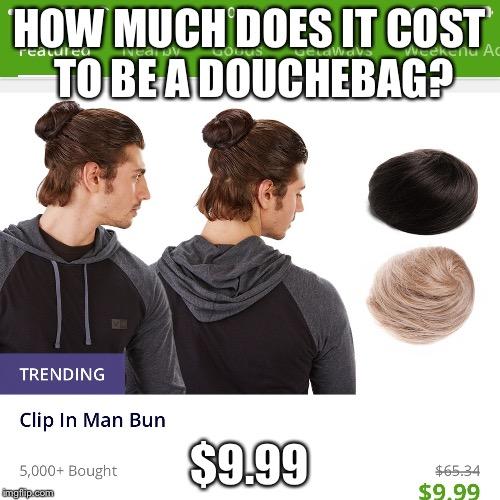 Clip In Man Bun Imgflip