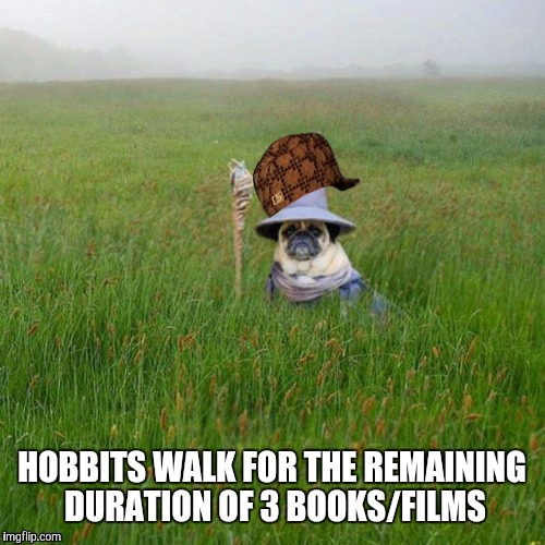 HOBBITS WALK FOR THE REMAINING DURATION OF 3 BOOKS/FILMS | made w/ Imgflip meme maker