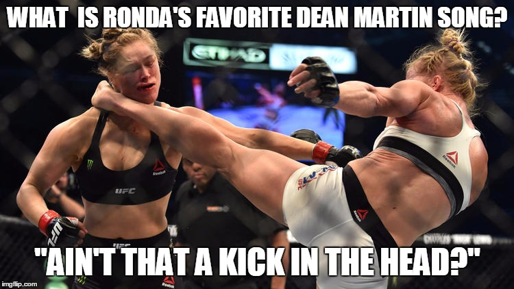 "Night Night | WHAT  IS RONDA'S FAVORITE DEAN MARTIN SONG? ""AIN'T THAT A KICK IN THE HEAD?"" 