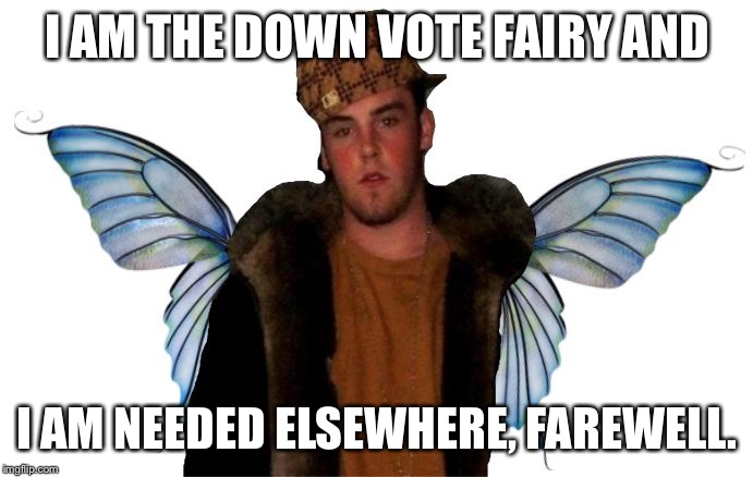 Downvote fairy god mother | I AM THE DOWN VOTE FAIRY AND I AM NEEDED ELSEWHERE, FAREWELL. | image tagged in downvote fairy god mother | made w/ Imgflip meme maker