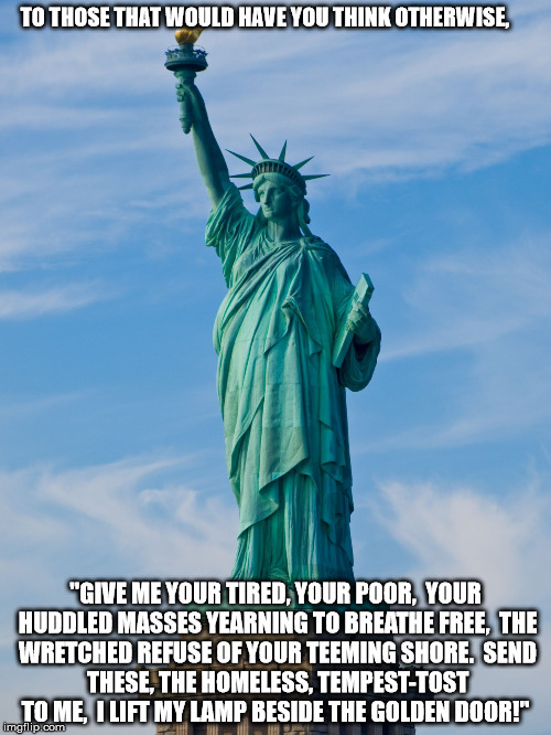I Lift My Lamp Beside The Golden Door Lady Liberty Quotes
