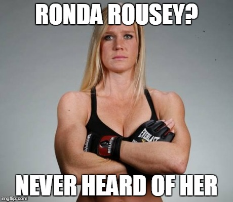 u8sae image tagged in ronda rousey holly holm imgflip