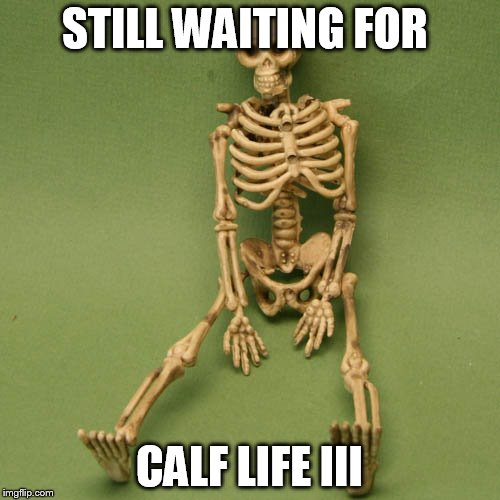 STILL WAITING FOR CALF LIFE III | made w/ Imgflip meme maker