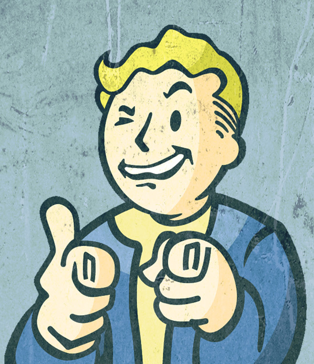 Vault Boy Point Wink Blank Template Imgflip