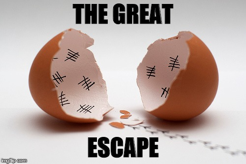 It Always Smells Better on the Outside | THE GREAT ESCAPE | image tagged in chick escape,chick,memes | made w/ Imgflip meme maker