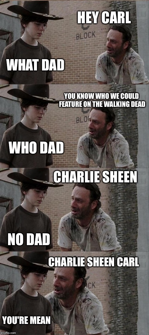 udjks rick and carl long meme imgflip