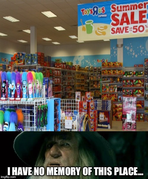 Me in Toys R Us | I HAVE NO MEMORY OF THIS PLACE... | image tagged in memes | made w/ Imgflip meme maker