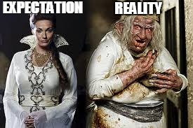 ExpectationReality | EXPECTATION REALITY | image tagged in merlin,internet dating,expectation vs reality | made w/ Imgflip meme maker